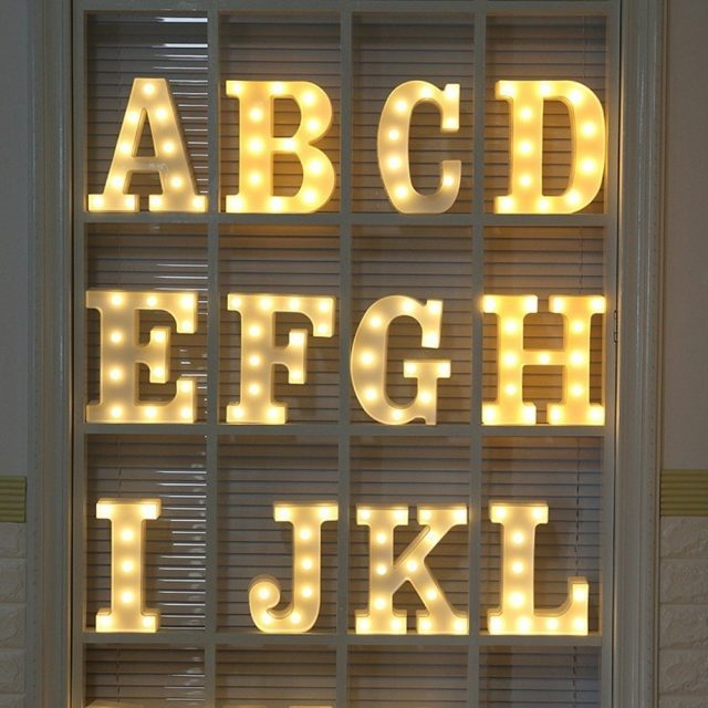 baby room design alphabet light