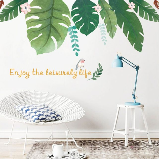 plant wall decal baby room design