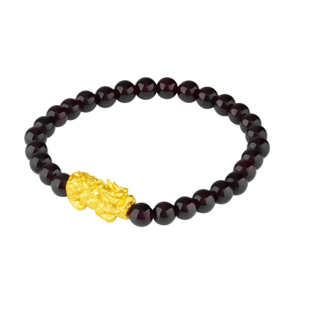 TAKA Jewellery 999 Gold Pixiu With Beads Bracelet