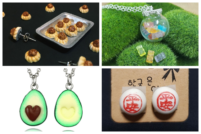 miniature food handmade jewellery singapore