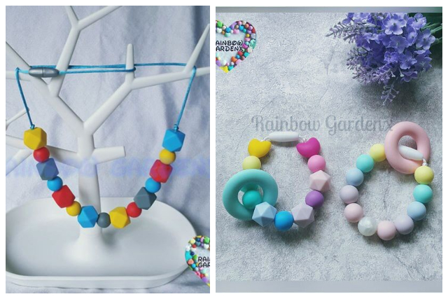 teething bead necklace mother baby handmade jewellery singapore
