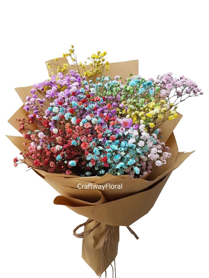 baby's breath craftway floral flower delivery singapore