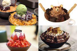 best bingsu singapore strawberry chocolate matcha redbean brownies Korean cafe restaurant