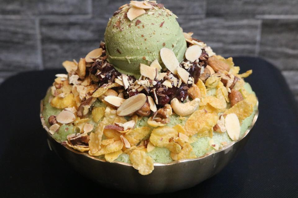 bingsu singapore binggojung green tea