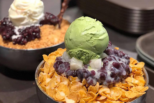 bingsu singapore one ice cafe matcha vanilla