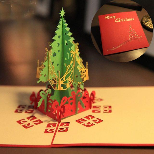 christmas tree card gift idea