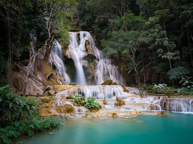 luang prabang kuang si waterfall short getaway from singapore