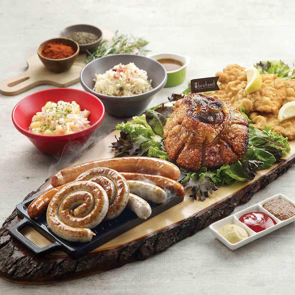 brotzeit platter with pork schnitzel affordable christmas dinner singapore