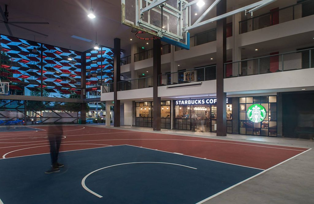 tampines west cc starbucks indoor basketball courts in Singapore