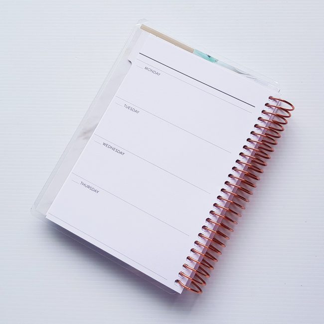 mini horizontal planner 2019
