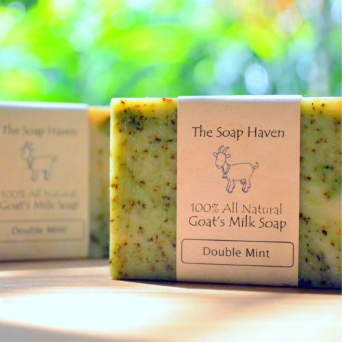 the soap haven double mint goats milk bar soap singapore
