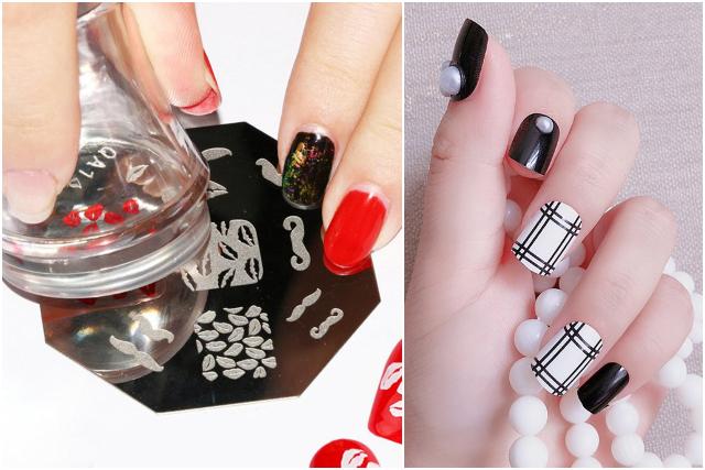nail stamping nail art design