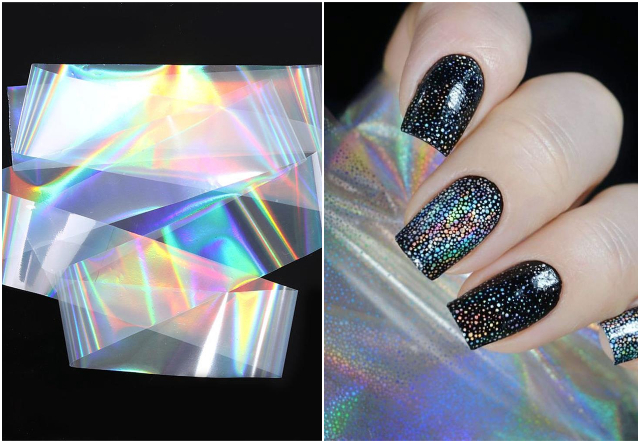 holographic transfer nail foil nail art design singapore