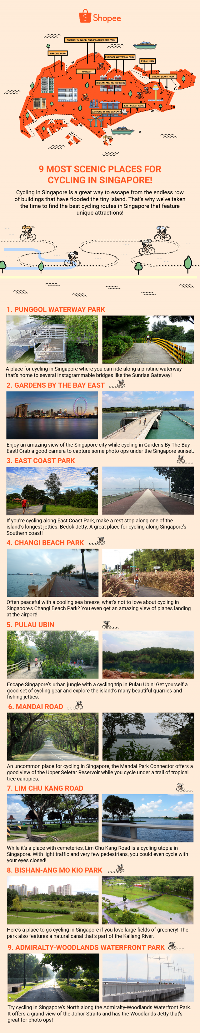 Best Scenic Places Cycling Singapore Bicycle Park Trail Outdoor Activity