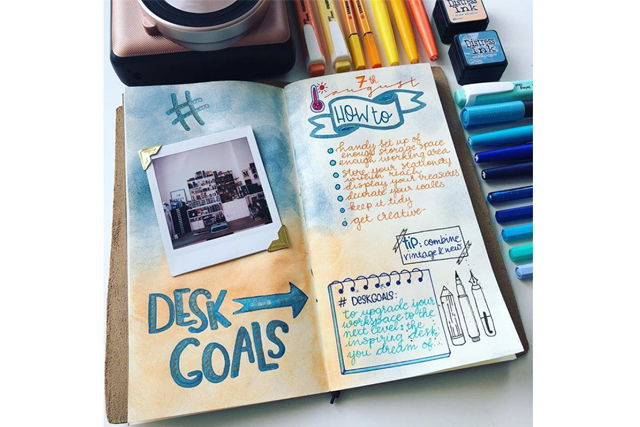 bullet journal ideas polaroid fujifilm instax