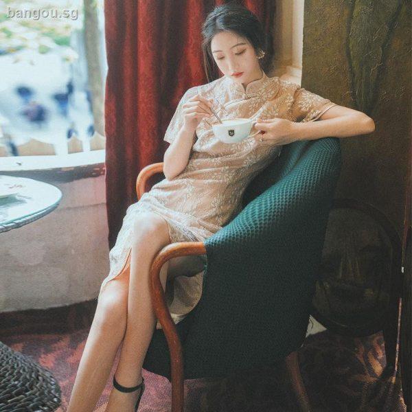 modern cheongsam singapore nude embroidered qipao