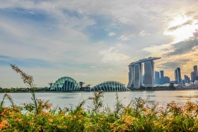 cycling singapore Gardens by the bay east sunrise