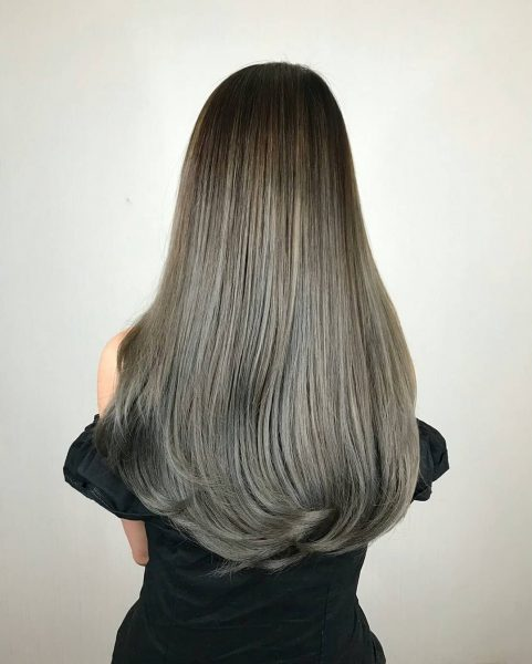 zinc korean hair salon singapore female grey silver dye
