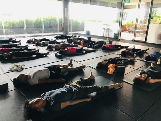 corpse pose hot yoga classes singapore sweatbox