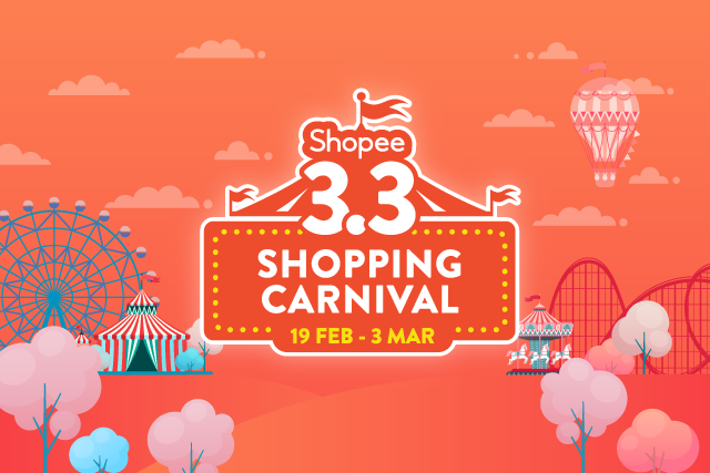 Shopee 3 3 Shopping Carnival Enjoy Deals As Low As 3 From 19 Feb