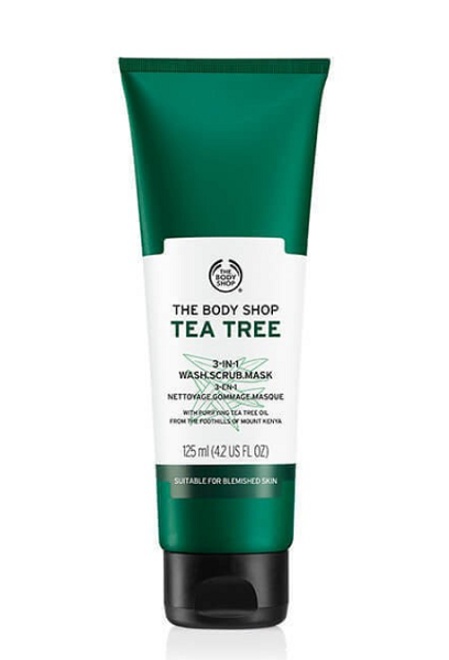 the body shop face exfoliator