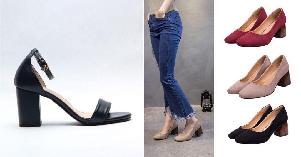 block heels comfortable heels singapore