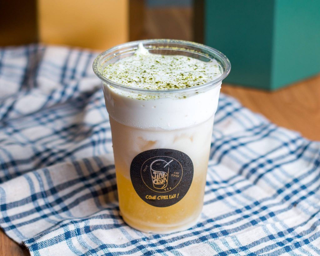 gravitea jasmine cheese tea in Singapore