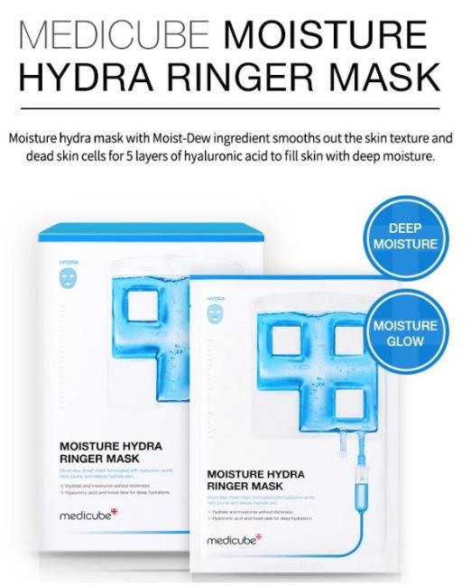 medicube moisture hydra ringer mask best korean face mask