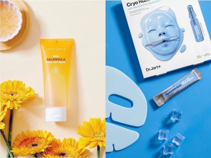 best korean face mask april skin calendula peel off pack dr jart+ rubber mask moist lover