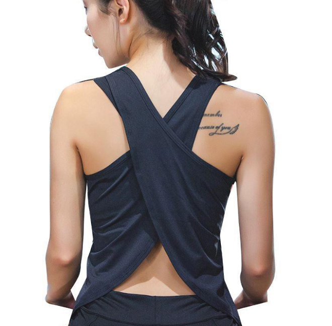 yoga cross back top affordable yoga clothes in singapore