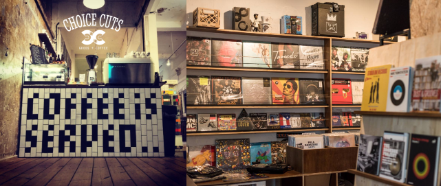 choice cuts goods + coffee vinyl records in singapore