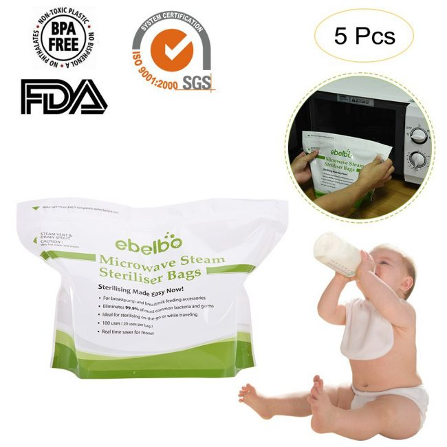 best baby bottle steriliser elbelbo microwave steam bags