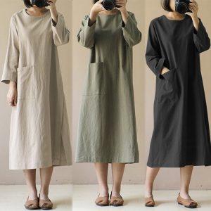 3/4 Maxi Dress
