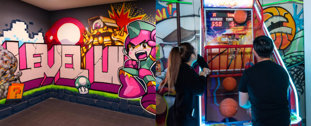 level up barcade bars with games in singapore
