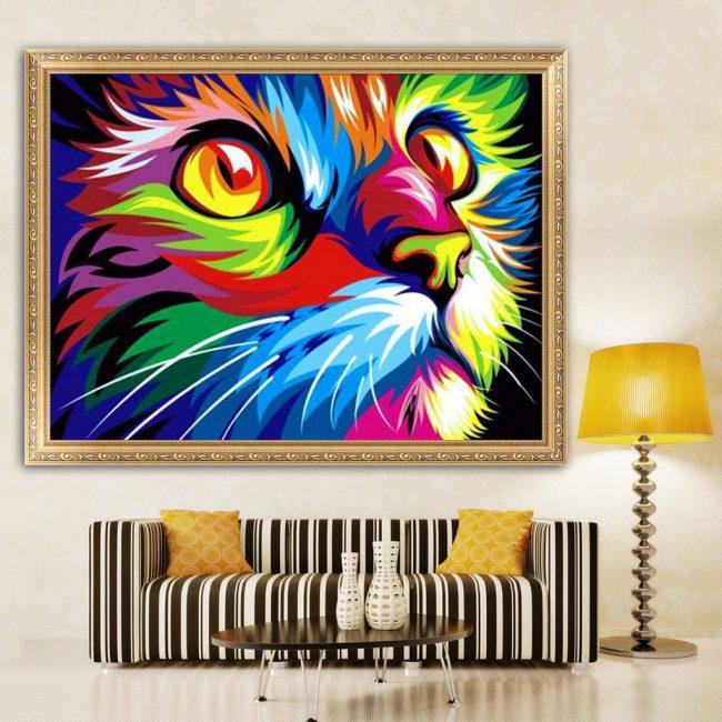 gift ideas singapore sparkly cat diamond painting diy hobby art and craft