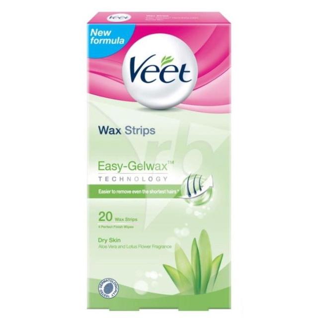 hair removal singapore veet wax strips easy grip dry skin green