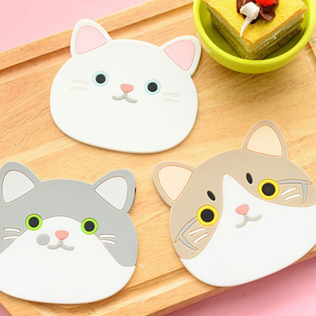 gifts for cat lovers chubby cat coaster cup mug