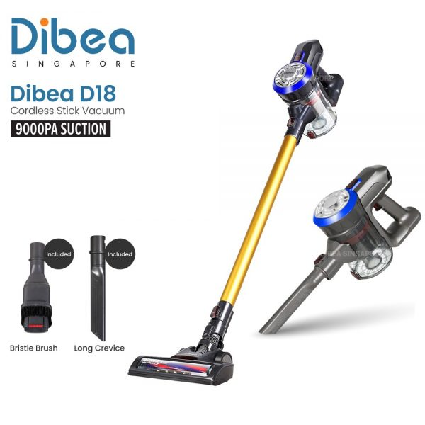 best cordless vacuum cleaner singapore dibea d18 cordless stick