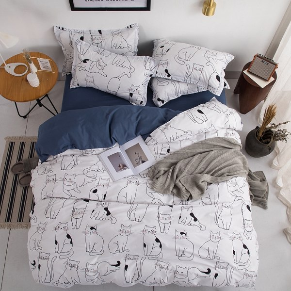gifts for cat lovers cat-themed bedding cotton set