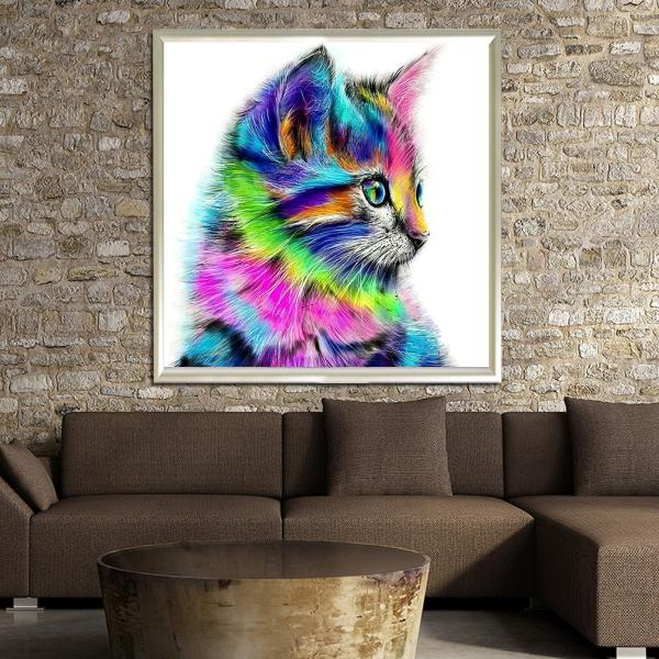 gifts for cat lovers home decor diamond painting diy art and craft