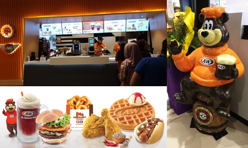 a&w collage jewel changi airport food