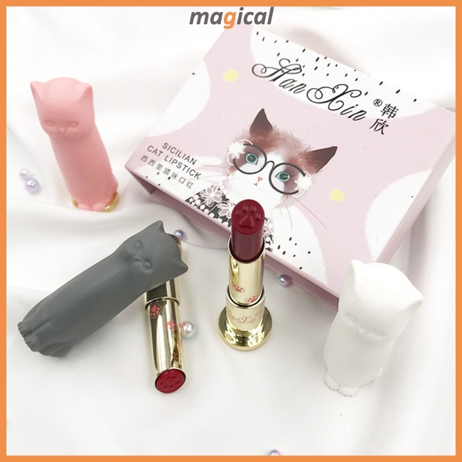 gifts for cat lovers cat paw lipstick set makeup beauty