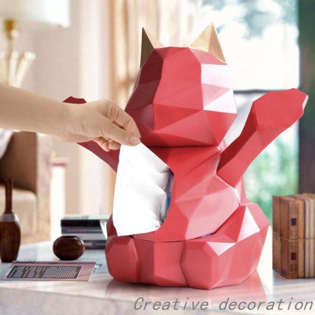 gift ideas singapore geometrical cat tissue box home decor