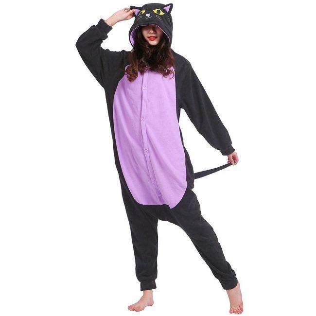 gifts for cat lovers spooky cat onesie costume halloween pyjamas