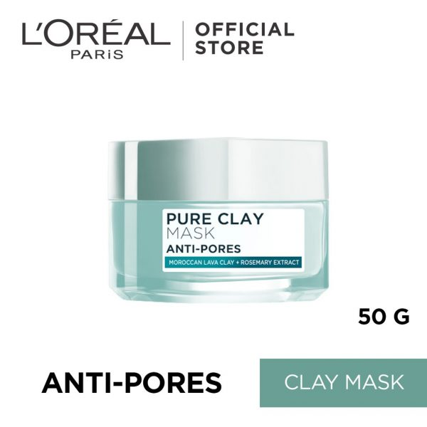 loreal clay mask skincare routine for oily skin
