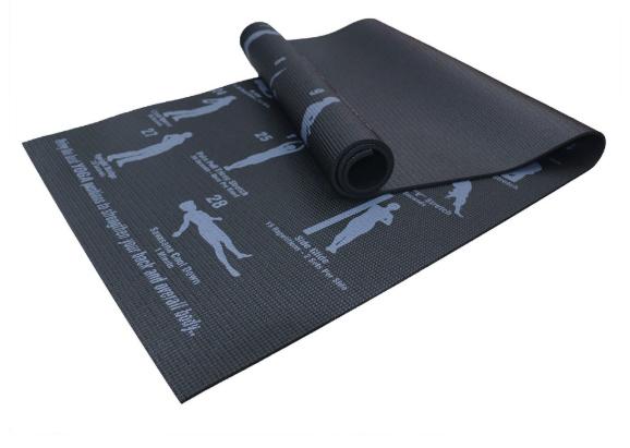 yoga mat with pose diagrams best yoga mat in singapore