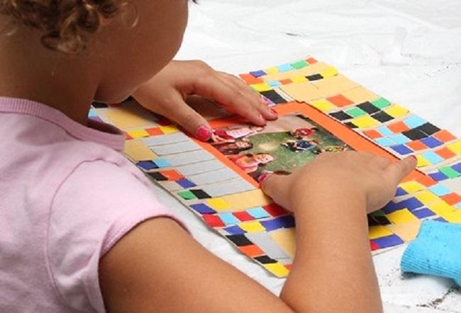 fathers day card ideas children kids mosaic art craft
