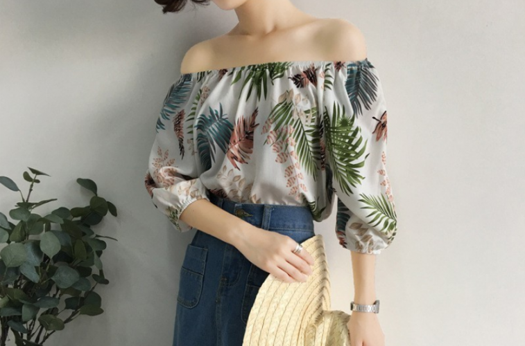 Women's Blouse Loose 3/4 Sleeve Hawaiian Top Short Sleeve Blouses
