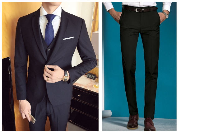 what to wear to an interview outfit men business suit pants formal shoes black