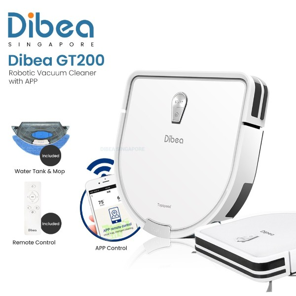 best robot vacuum cleaner singapore dibea gt200 wifi robotic white